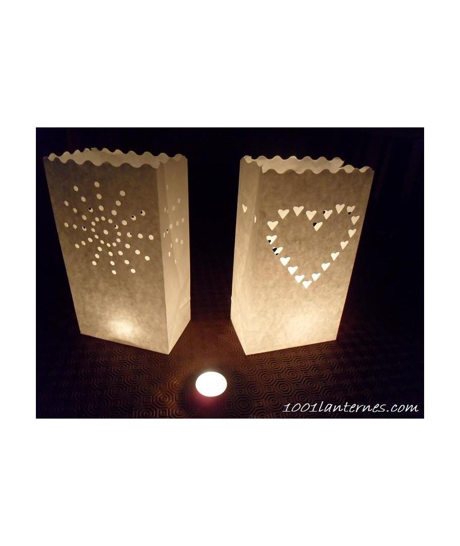 Pack de 10 lanternes de jardin en papier modèle soleil