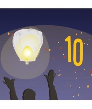 Pack de 10 lanternes
