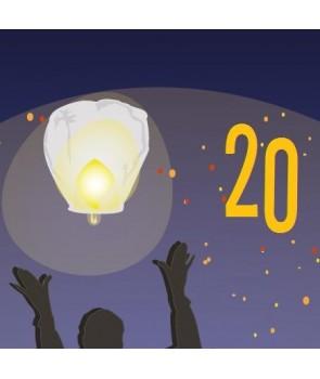 Pack de 20 lanternes