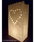 Pack de 10 lanternes de jardin modèle Coeur