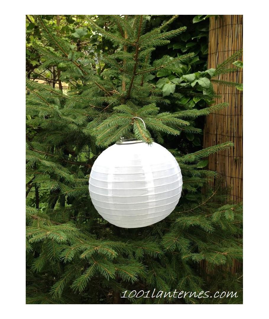 lanterne solaire blanche leds pour jardin petit prix. Black Bedroom Furniture Sets. Home Design Ideas