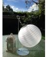 Lampion solaire Blanc