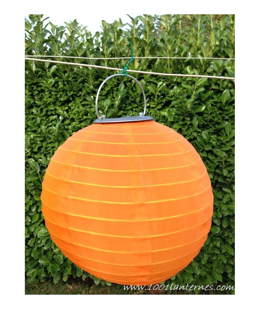 lanterne solaire orange leds pour jardin petit prix. Black Bedroom Furniture Sets. Home Design Ideas