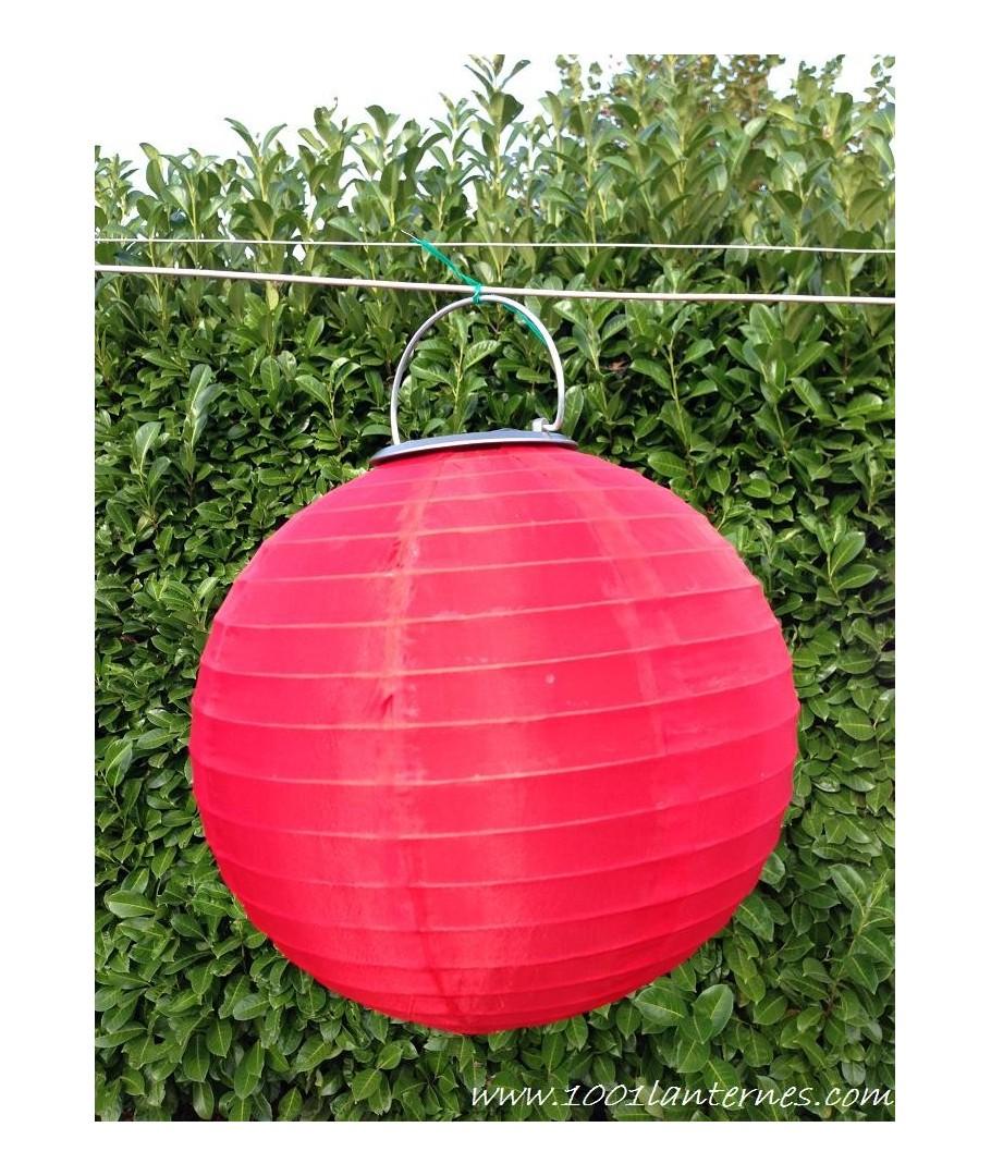 lanterne solaire rouge leds pour jardin petit prix. Black Bedroom Furniture Sets. Home Design Ideas