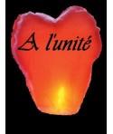 Lanterne volante coeur à l'unité