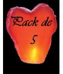 Pack de 5 lanternes coeurs