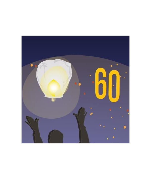 Pack De 60 Lanternes Volantes écologiques