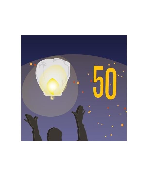 Pack de 50 lanternes volantes